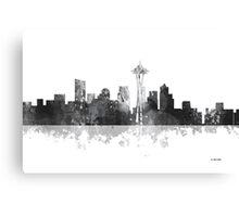 Seattle, Washington Skyline - B&W Canvas Print