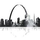 St. Louis, Missouri Skyline - B & W von Marlene Watson