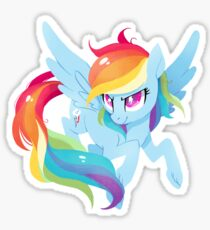 rainbow power Sticker