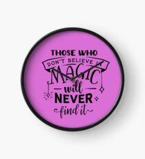 Believe in Magic Clock