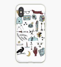 raven doodles iPhone Case
