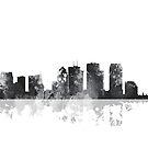 Skyline von Tampa, Florida - B & W von Marlene Watson