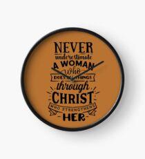 All Things Through Christ Clock
