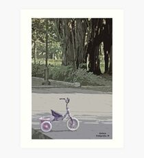 Tricycle in the park Art Print
