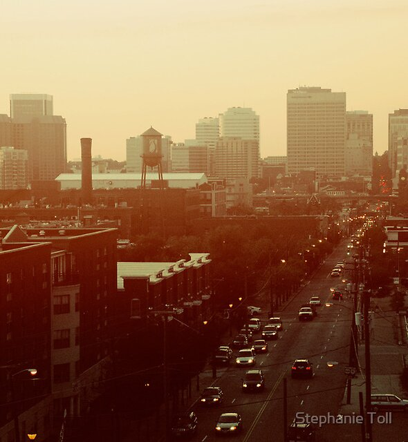 The City Lights-View from Richmond, Va by Stephanie Toll