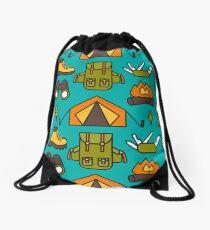 Camping Pattern Drawstring Bag