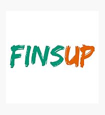 Fins Up! Photographic Print