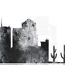 Tucson, Arizona Skyline - B & W von Marlene Watson