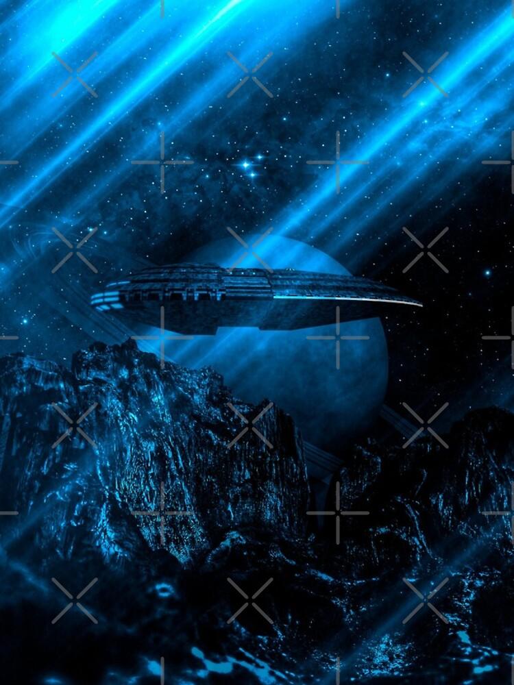 Raumschiff Planet Saturn von magazinecombate
