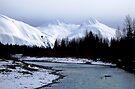 River Bend under Mountains, Alaska by John Carpenter