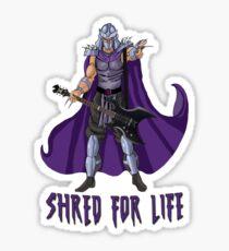 Shred For Life Sticker