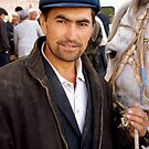 Uyghur Man and his horse by Brian Bo Mei
