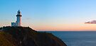 Cape Byron lighthouse at sunrise by Odille Esmonde-Morgan