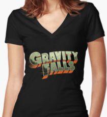 Gravity Falls Women's Fitted V-Neck T-Shirt
