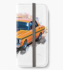 Orange 1971 Ford Falcon XY GT iPhone Wallet/Case/Skin
