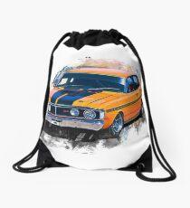 Orange 1971 Ford Falcon XY GT Drawstring Bag