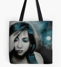 dark is the night Tote Bag