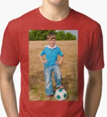 At the beginning of the soccer game Tri-blend T-Shirt