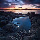 Sunrise Near Soldiers Rocks, Blackmans Bay, Tasmania #6 by Chris Cobern
