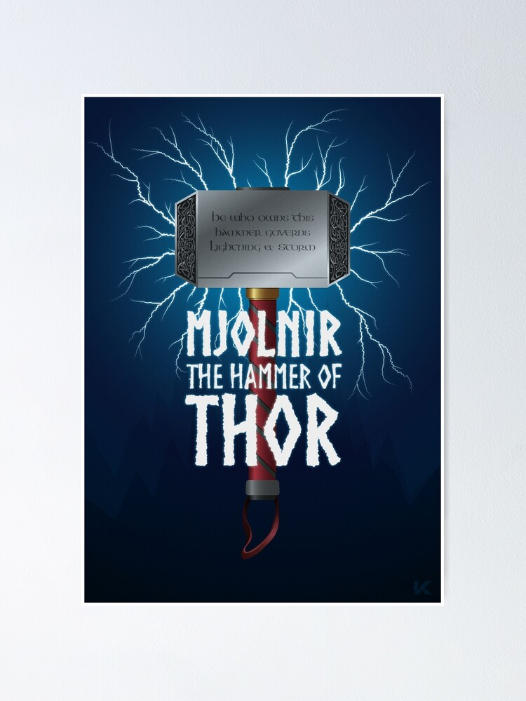 Alternate view of Mjolnir the hammer of Thor Poster