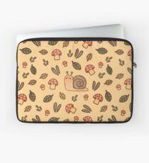 Snail, Mushrooms and Leaves  Laptop Sleeve