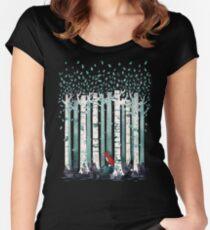 Die Birken Tailliertes Rundhals-Shirt