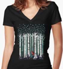 The Birches Women's Fitted V-Neck T-Shirt