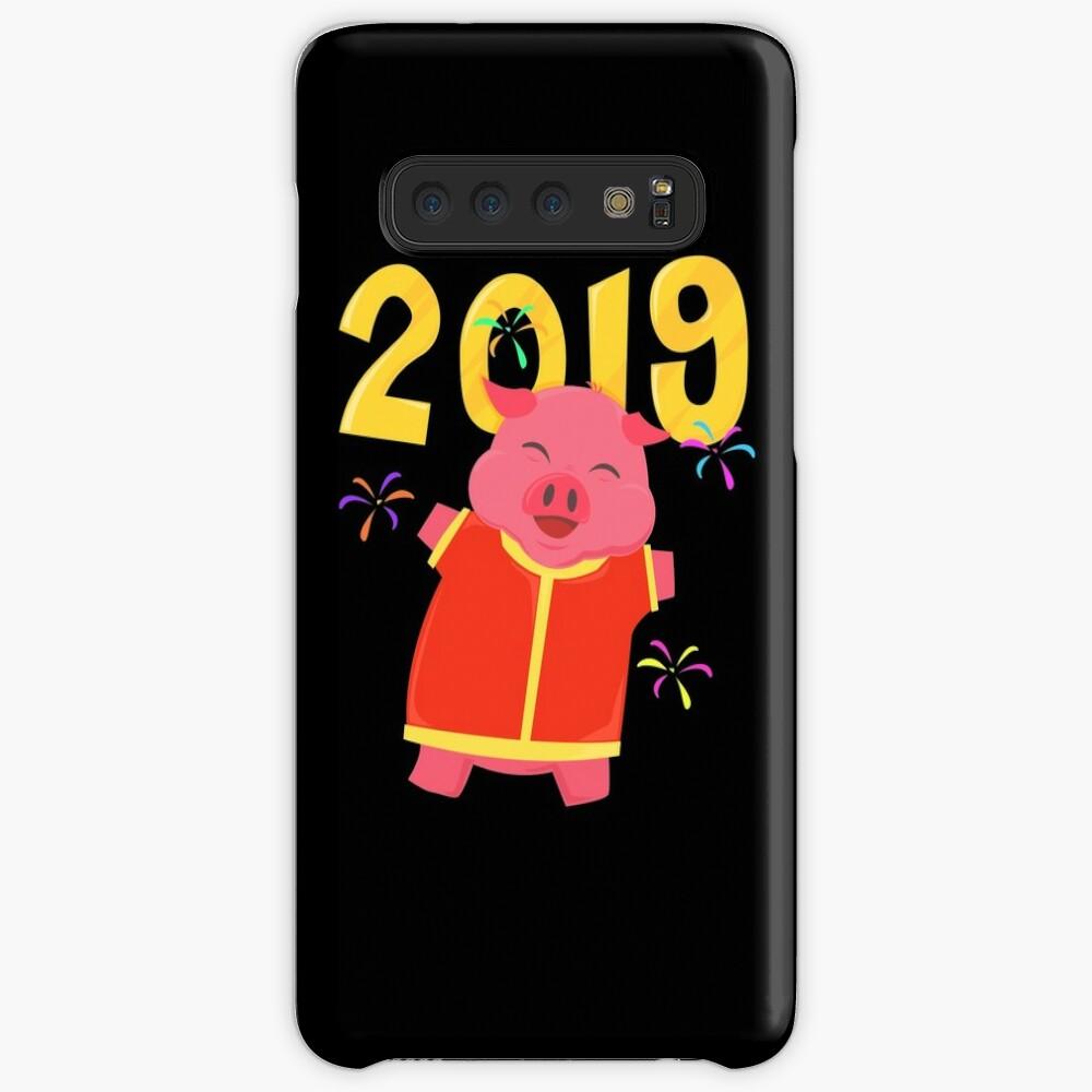 2019 Year Of The Pig Chinese New Year Hülle & Klebefolie für Samsung Galaxy