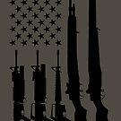American Rifles Flag (Black) by nothinguntried