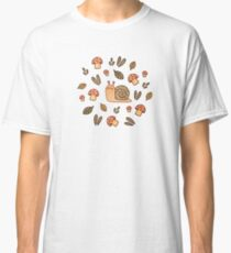 Snail, Mushrooms and Leaves  Classic T-Shirt