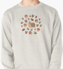 Snail, Mushrooms and Leaves  Pullover Sweatshirt