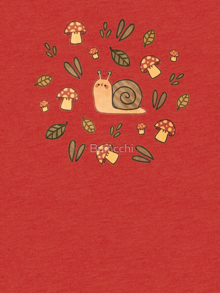 Snail, Mushrooms and Leaves  by Bumcchi