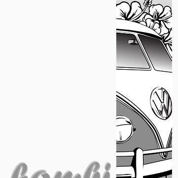 Volkswagen Tee Shirt - Hibiscus Splitty by KombiNation