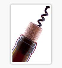 Bottle cork and corkscrew  Sticker