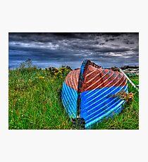 Holy Island Upsidedown Boat Photographic Print