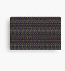 purple and green knitted pattern Canvas Print