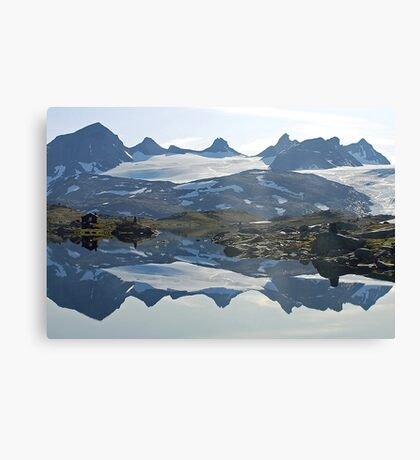 Sognefjell (Norway) reflected Canvas Print