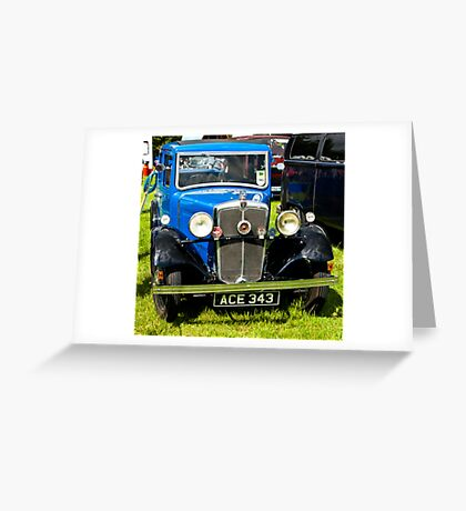 1934 Morris 10/4 Vintage Car Greeting Card