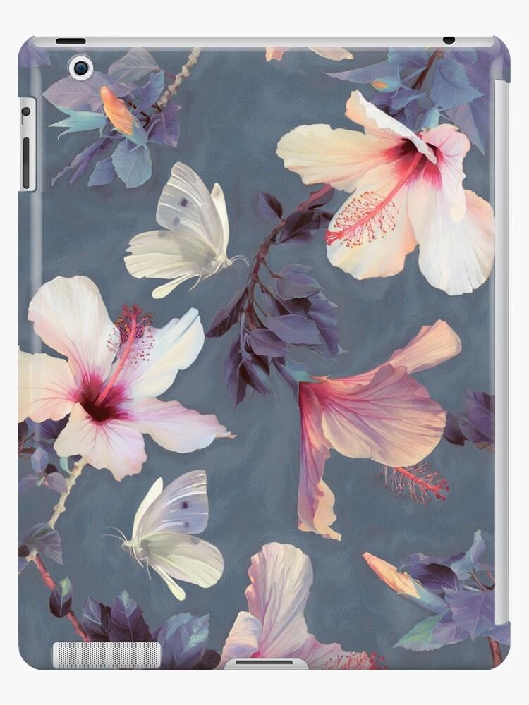 «Mariposas y flores de hibisco - un patrón pintado» de micklyn