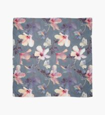Butterflies and Hibiscus Flowers - a painted pattern Scarf