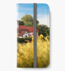 Postcard View of St Mary the Virgin, Silchester iPhone Wallet/Case/Skin
