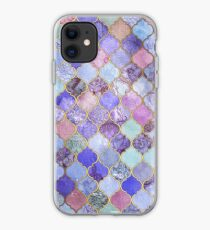 Royal Purple, Mauve & Indigo Decorative Moroccan Tile Pattern iPhone Case