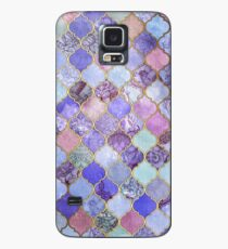 Royal Purple, Mauve & Indigo Decorative Moroccan Tile Pattern Case/Skin for Samsung Galaxy
