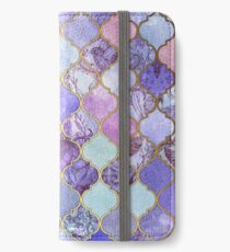 Royal Purple, Mauve & Indigo Decorative Moroccan Tile Pattern iPhone Wallet/Case/Skin