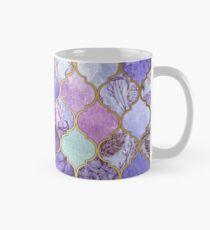 Königliches purpurrotes, malvenfarbenes u. Indigo-dekoratives marokkanisches Fliesen-Muster Tasse (Standard)