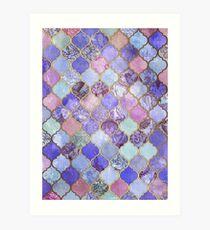 Lámina artística Patrón decorativo de azulejos marroquíes de Royal Purple, Mauve & Indigo
