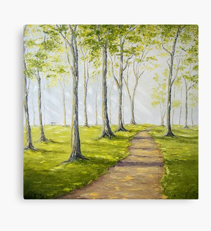 Sunny Forest Road Canvas Print