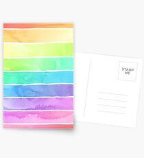 Sommer Sorbet Rainbow Stripes Postkarten
