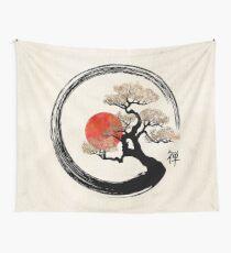 Enso Circle und Bonsai Tree auf Leinwand Wandbehang