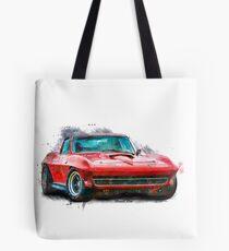 Red Corvette Stingray Tote Bag